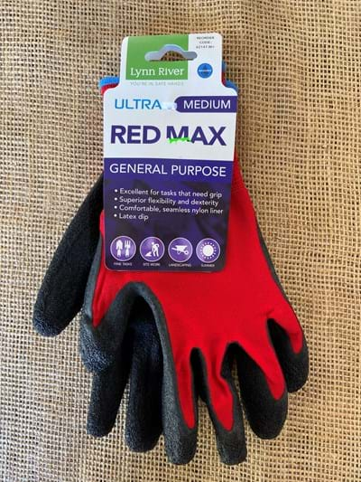 Gardening Gloves Red Max Small